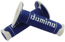 Tommaselli grip rubber set DSH Enduro, 120 mm, blau/weiß