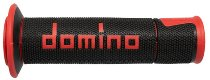 Tommaselli grip rubber set Road Racing, 120 mm / 125 mm, black / red