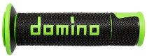 Tommaselli grip rubber set Road Racing, 120 mm / 125 mm, black / green