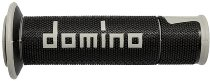 Tommaselli grip rubber set Road Racing, 120 mm / 125 mm, black/gray
