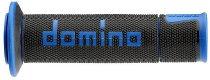Tommaselli grip rubber set Road Racing, 120 mm / 125 mm, black/blue