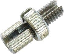 Tommaselli throttle cable adjustment screw, Steel M8x16, galvanized