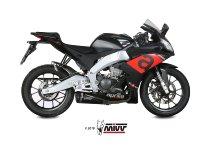 MIVV Silencer Delta Race, stainless steel black/carbon cap, with homologation - Aprilia RS 125