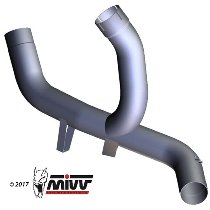 MIVV No-kat pipe, stainless steel, without homologation - Ducati 1200 Multistrada