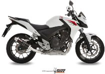 MIVV Silencer GP, stainless steel black, with homologation - Honda CB 500 F / X