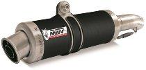 MIVV Silencer kit GP, stainless steel black, with homologation - Honda FMX 650