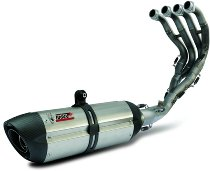 MIVV Silencer complete system 2x1 Suono, stainless steel/carbon, with homologation - Kawasaki 650 ER