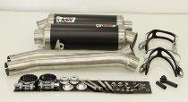 MIVV Silencer kit GP, stainless steel black, with homologation - Kawasaki Z 1000