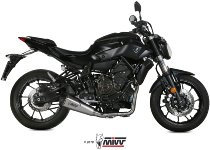 MIVV Silencer complete system Delta Race, stainless/carbon cap, with homologation - Yamaha 700 MT-07
