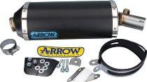 Arrow Silencer MaXi Race-Tech Aluminium Dark with homologation - Kawasaki Versys 650 / ER 6 F ...
