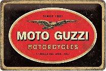 Moto Guzzi Tin-plate sign, 20x30cm