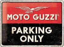 Moto Guzzi Tin-plate sign parking only, 30x40cm