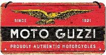 Moto Guzzi Tin-plate sign, 10x20cm to hang
