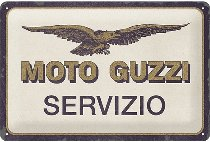Moto Guzzi Tin-plate sign Servizio, 20 x 30 cm