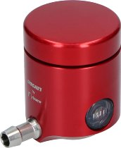 Ducati Clutch fluid reservoir Rizoma aluminium, red - Multistrada, Panigale, Hypermotard...
