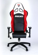 Ducati Corse Office chair, black-red-white with adjustable arm rest