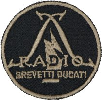Ducati Patch radio brevetti, 57mm