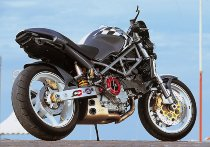 QD Exhaust kit ´ex-box´ series, stainless-steel, with EG-ABE - Ducati 600, 620, 750, 800 Monster
