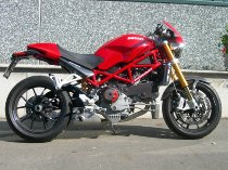 QD Exhaust kit ´ex-box´ series, stainless-steel, with homologation - Ducati 1000 S4R, S Monster