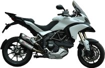 QD Auspuff-halb-Komplettanlage ´Magnum´ Serie Titan, mit EG-ABE - Ducati 1200 Multistrada 2010-2014
