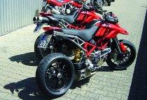 QD Exhaust Kit ´Ex-Box´ Ducati Hypermotard 796, stainless steel, EG-ABE