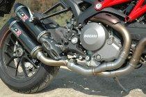 QD 2-1 Manifold exhaust valve eliminator, stainless-steel, racing - Ducati Monster 1100 Evo