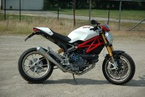 QD Exhaust Kit 2 in 1 ´MaxCone´ Ducati Monster 796, stainless steel , polished, EG-ABE