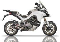 QD Auspuff-halb-Komplettanlage `Gunshot` Serie Titan, Euro 4 mit EG-ABE - Ducati 1260 Multistrada
