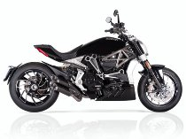 QD Exhaust kit 2 in 2 ´slash-carbon´ series euro 4 with homologation - Ducati 1260 XDiavel