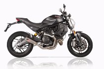 QD Exhaust crossover Racing 2-1 Ducati Monster 797 - Scrambler 800 , without catalyst