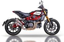 QD Exhaust ´Gunshot´ Indian FTR 1200 , titanium