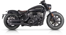 V-Performance Auspuff Twin Slip-On, Euro 5, Dunkel - Indian Scout / Bobber Chubby