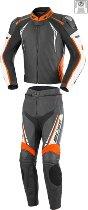 Büse Silverstone Pro leather suit ladies 2 pieces, black/orange 40