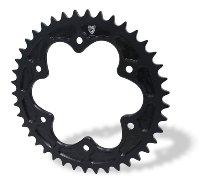 CNC Racing Kettenrad, P525, 6-Loch, schwarz - Ducati