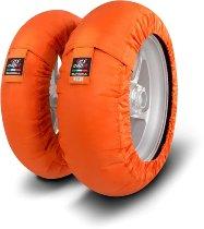 Capit tire warmer ´Suprema Spina´ - vorne 90/17 + hinten 120/16-17 - orange