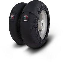 Capit tire warmer ´Suprema Spina´ - vorne 90/17 + hinten 120/16-17 - nomex schwarz high. Temp.