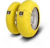 Capit Reifenwärmer ´Suprema Spina´ - vorne <125-17 + hinten <180/55-17 - gelb