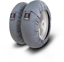 Capit Reifenwärmer ´Suprema Spina´ - vorne <125-17 + hinten <180/55-17 - grau