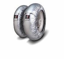 Capit Reifenwärmer ´Suprema Spina´ - vorne <125-17 + hinten <180/55-17 - silber
