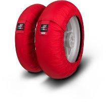 Capit tire warmer ´Mini Spina´ - vorne 90/90-10 + hinten 90/90-10 - rot