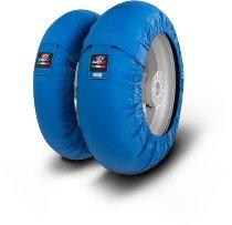 Capit tire warmer ´Mini Spina´ - vorne 100/90-12 + hinten 120/80-12 - blau