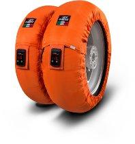 Capit tire warmer ´Suprema Vision´ - vorne 90/17 + hinten 120/16-17 - orange