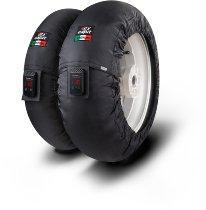 Capit tire warmer ´Suprema Vision´ - vorne 90/17 + hinten 120/16-17 - nomex schwarz high. Temp.