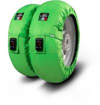 Capit Reifenwärmer ´Suprema Vision´ - vorne <125-17 + hinten <180/55-17 - grün
