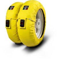 Capit Reifenwärmer ´Suprema Vision´ - vorne <125-17 + hinten <180/55-17 - gelb