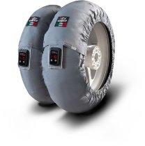 Capit Reifenwärmer ´Suprema Vision´ - vorne <125-17 + hinten <180/55-17 - grau