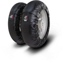 Capit Reifenwärmer ´Mini Vision´ - vorne 90/90-10 + hinten 120/80-10 - carbon