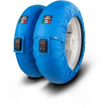 Capit tire warmer ´Mini Vision´ - vorne 100/90-12 + hinten 120/80-12 - blau