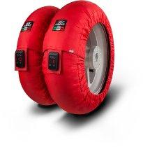 Capit tire warmer ´Mini Vision´ - vorne 100/90-12 + hinten 120/80-12 - rot