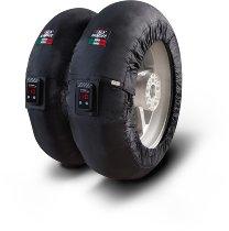 Capit Reifenwärmer ´Maxima Vision´ - vorne <120-17 + hinten <200/55-17 - schwarz